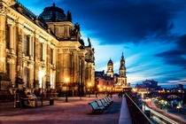 Dresden Germany at sunset  Photographed by Fresch-Energy