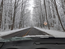 Driving after the snow storm - Michigan USA