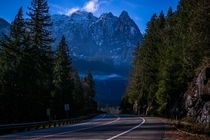 Driving through the Central Cascades of Washington