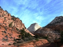 Driving through Zion National Park UT