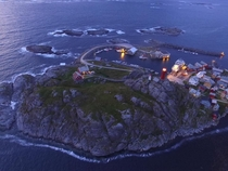 Drone over the island Ona - only  people living there  Norway