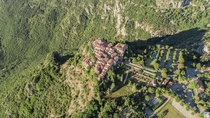 Drone picture of Gourdon Alpes-Maritimes France