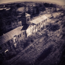 Drone shot I took this afternoon of a derelict amp abandoned Victorian lunatic asylum in Norwich UK