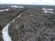 Drone shot just hours after a Maine Snowstorm February
