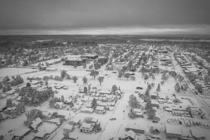 Drone shot of my town after the  inches we got this week