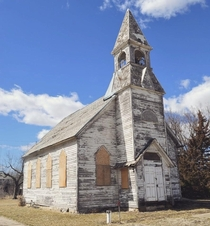 Drove for two hours just to get this shot Love this church Lost Springs KS