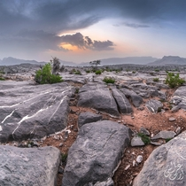 Drove  hours to the highest mountain in Oman Jabal Shams to take this photo during the sunset