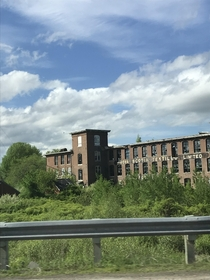 Drove past the abandoned Nova Scotia Textiles plant in Windsor NS today Built in