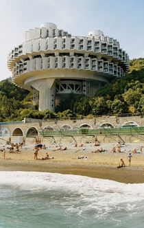 Druzhba Holiday Center in Yalta Soviet Socialist Republic of Ukraine  designed by Igor Vasilevsky