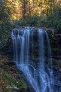 Dry Falls near Highlands NC