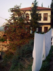 Drying beddings in irince Turkey