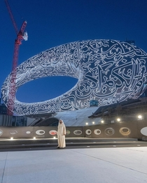 Dubai about to open its latest architectural marvel the Museum of the Future is almost complete