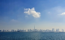Dubai downtown seen from the sea
