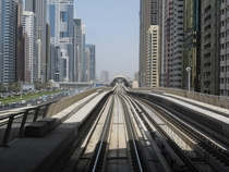 Dubai Metro Emirates Towers Station as seen from Financial Centre Station Red Line