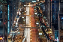 Dubai Multicore CPU - long exposure of Dubais highways  by Daniel Cheong