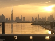 Dubai skyline from a rare vantage point