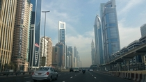 Dubai UAE looks like driving through a futuristic city