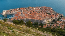 Dubrovnik from the Top of Srd Hill