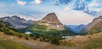 Due to bear activity the trail was closed but managed to get this sweet panorama of Bearhat Mountain at dawn in Glacier National Park MT