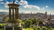 Dugald Stewart Monument at Edinburgh Scotland