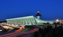 Dulles Airport at dusk Eero Saarinen