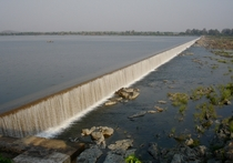 Dummugudem Barrage on Godavari River