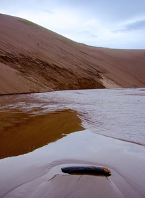 Dunes and water together in Colorado