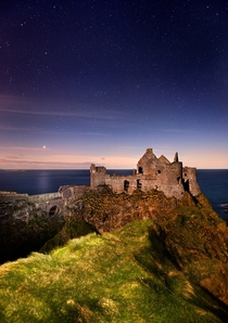 Dunluce Castle along the North Antrim coast Northern Ireland