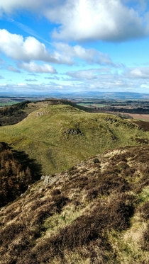 Dunsinane Hill of Shakespeares Macbeth Fame captured today Perthshire Scotland  Macbeth shall never vanquished be until Great Birnam wood to high Dunsinane hill Shall come against him
