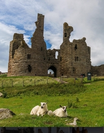 Dunstanburgh Castle in north Northumberland