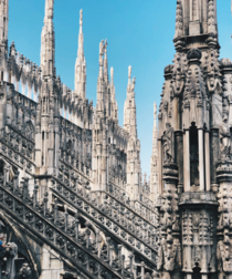 Duomo di Milano took nearly six centuries to complete and was completed in  It is the largest church in Italy second largest in Europe and the fourth largest in the world
