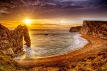 Durdle Door at Dusk by Becky Bunce