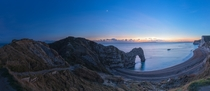 Durdle Door sunset panorama