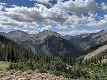 During a run on Hope Pass in Colorado USA