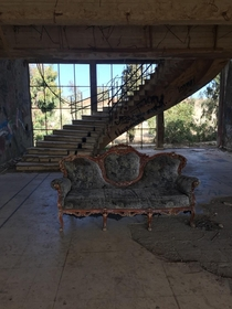 During the Yom-kippur-war abandoned Syrian hospital in the golan heights