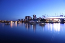 Dusk at Main Street-Science World Vancouver BC