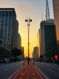 Dusk at Paulista Avenue So Paulo
