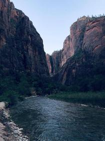Dusk at The Narrows Zion National Park  x