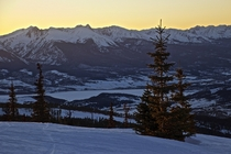 Dusk at the Top of Keystone Colorado