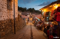 Dusk in the Streets of Cuzco Peru  by Danny Garca x-post rPeruPics