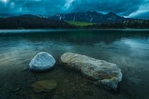 Dusk is approaching in Jasper National Park Alberta