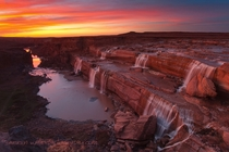 Dusk on the Grand Falls in the Navajo NationArizona  photo by Darren White