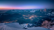 Dusk over Schwyz Switzerland