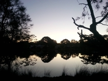 Dusk time reflections at Lake Tabourie Australia