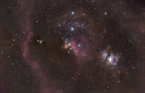 Dust and Nebulas Around Orions Belt