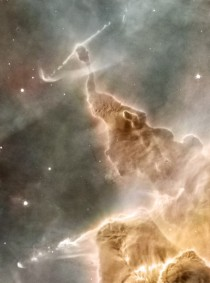 Dust Pillar of the Carina Nebula Inside the head of this interstellar monster is a star that is slowly destroying it