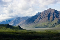 Dust Rises Between the Mountains  Denali National Park Alaska