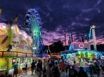 Dutchess County Fair has to get this shot sky was ridiculous Shot on my phone