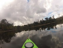 Eagle Pond in Palmetto Louisiana mirroring the sky