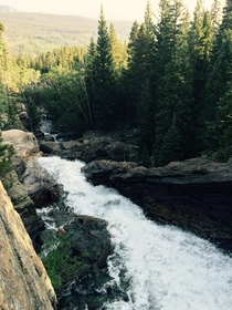 Early morning at Alberta Falls Rocky Mountain National Park    N    W